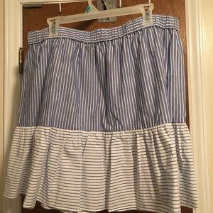 2 layer ruffled skirt